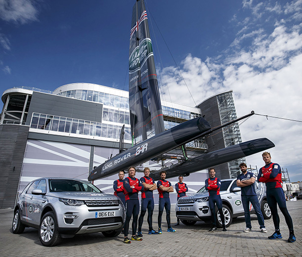 Land Rover BAR sailing team at their new home in Portsmouth