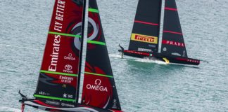 36th America's Cup presented by Prada Race Day 3 Emirates Team New Zealand, Luna Rossa Prada Pirelli Team