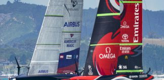 36th America's Cup presented by PRADA PRADA Cup 2021 - Training Day 2 New York Yacht Club American Magic, Emirates Team New Zealand
